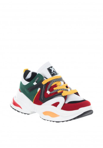 Xti Colour Block Chunky Retro Trainers, Multi