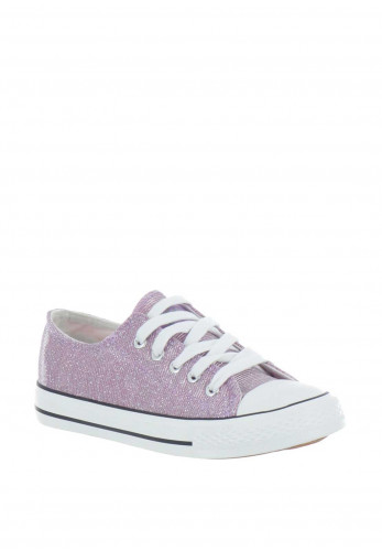 Xti Girls Metallic Trainers, Lilac