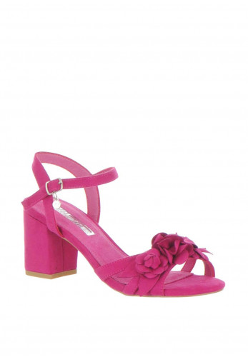 Xti Womens Flower Block Heel Sandals, Fuschia