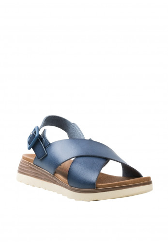 Xti Criss Cross Strappy Sandals, Blue