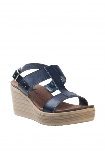 Xti Womens T-Bar Strap Wedges, Navy