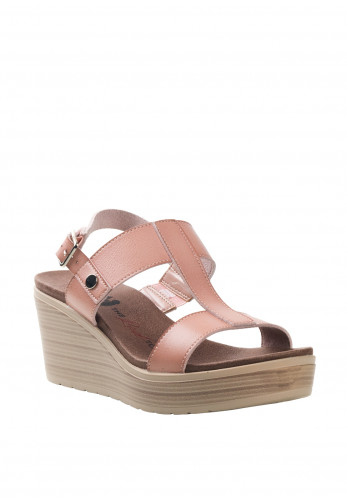 Xti Womens T-Bar Strap Wedges, Nude