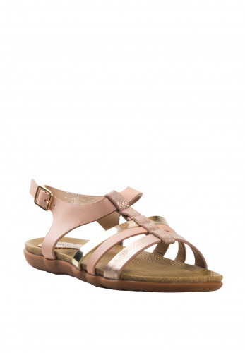 Lunar Girls Charlie Metallic Strap Sandals, Pink