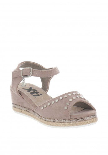 601650ad Xti Girls Stud Wedge Sandals, Taupe