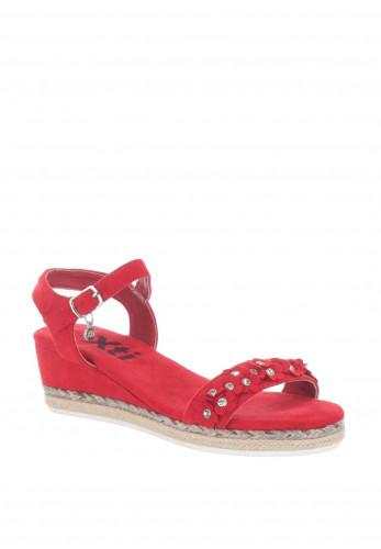 Xti Girls Diamante Flower Wedged Sandals, Red