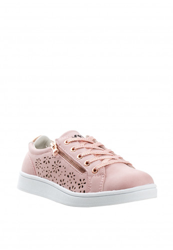 Xti Girls Laser Cut out Zip Trainers, Pink