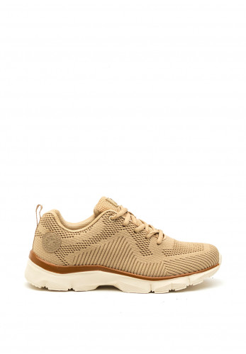 Xti Womens Patterned Fabric Trainers, Beige