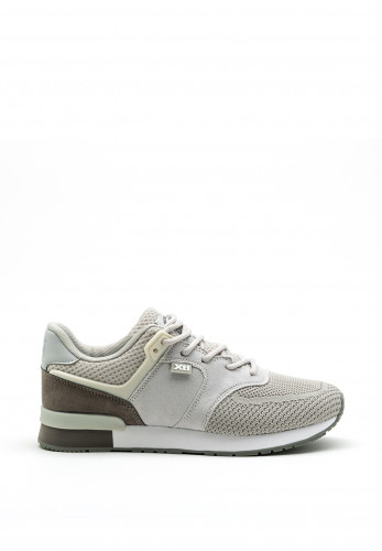Xti Womens Lace Up Trainer, Grey