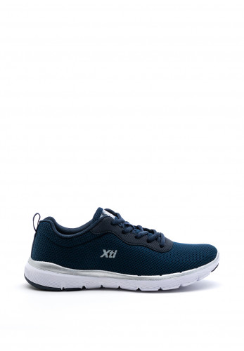 Xti Womens The Red Touch Mesh Trainer, Navy