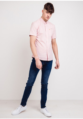 XV Kings by Tommy Bowe Beecroft Short Sleeved Shirt, Pink