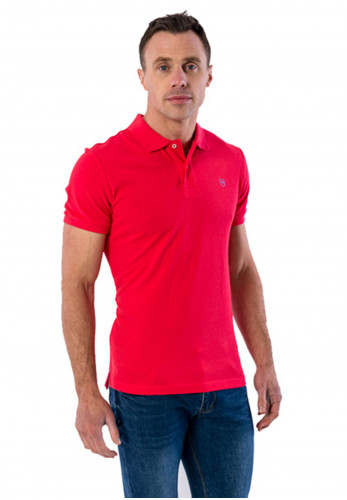 XV Kings by Tommy Bowe Oldham Polo Shirt, Peach Red