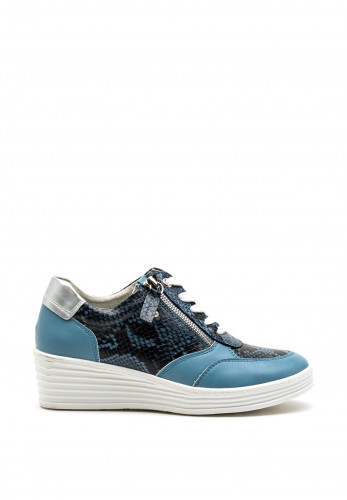 Zanni & Co. Wadi Zip Wedged Trainers, Blue