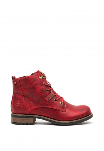 Zanni & Co Hoora Lace Up Boots, Cherry Red