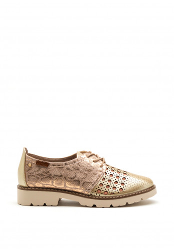 Zanni & Co. Mystic Metallic Brogues, Pink