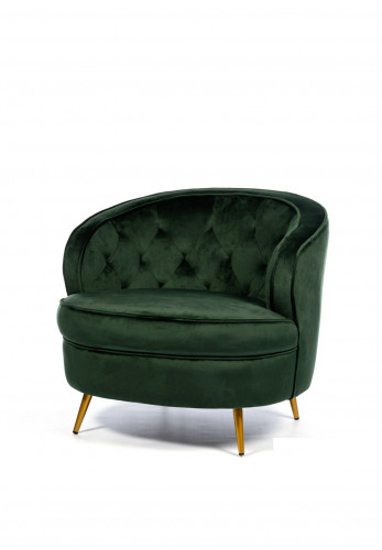 South Row Zaria Velvet Armchair, Emerald Green
