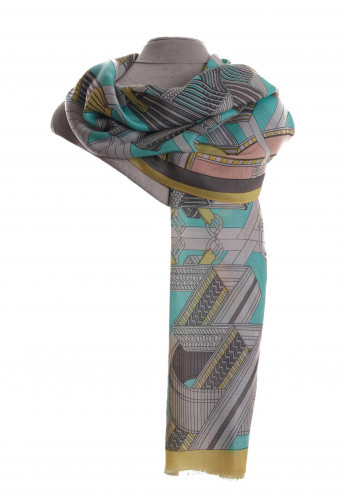 Zelly Bridget Belts and Buckles Print Scarf, Multi