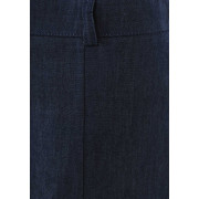 2342892229 Eugen Klein Denim Flared Midi Skirt, Navy | McElhinneys