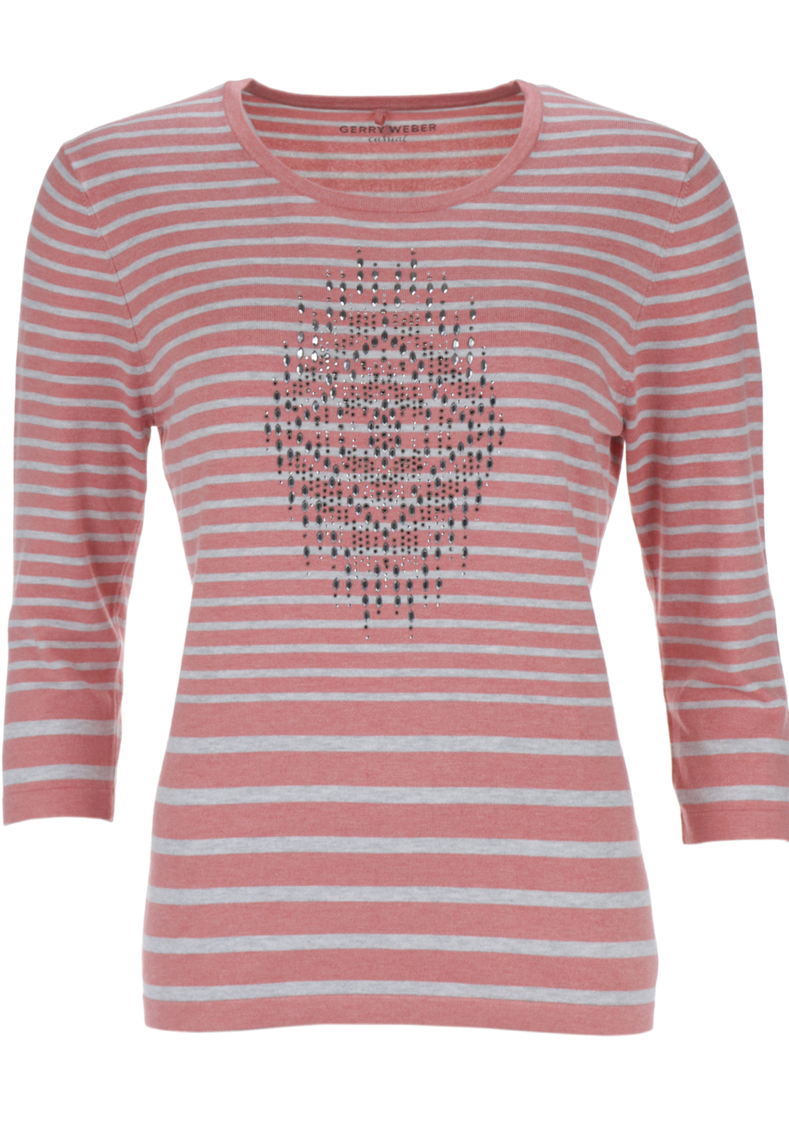 gerry weber relaxed fitted striped knitwear jumper with. Black Bedroom Furniture Sets. Home Design Ideas