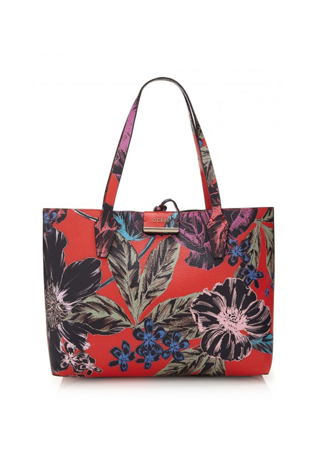 Guess Bobbi Reversible Tote Bag Pink Floral | McElhinneys