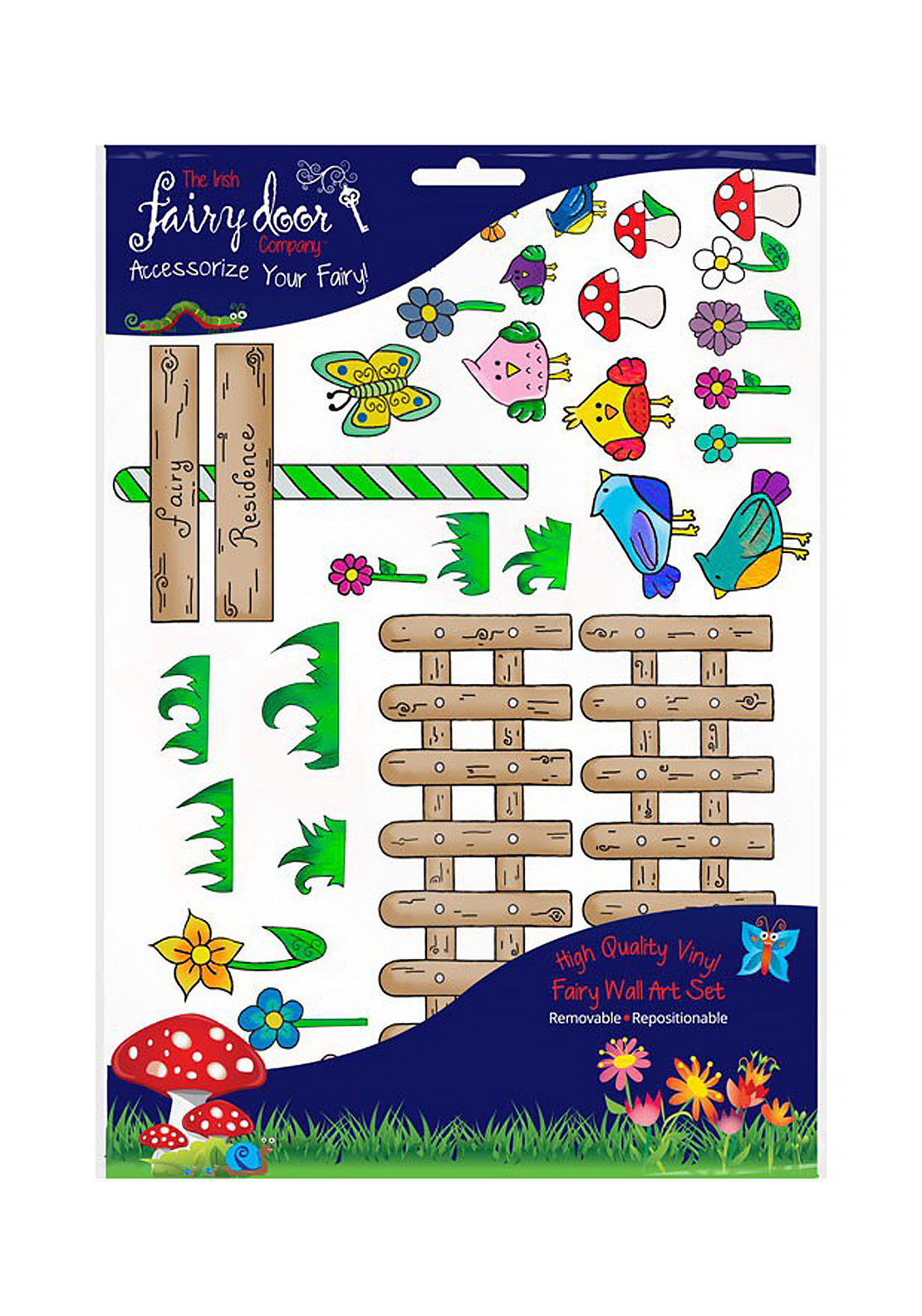 The irish fairy door company fairy picket fence wall art for The irish fairy door company facebook