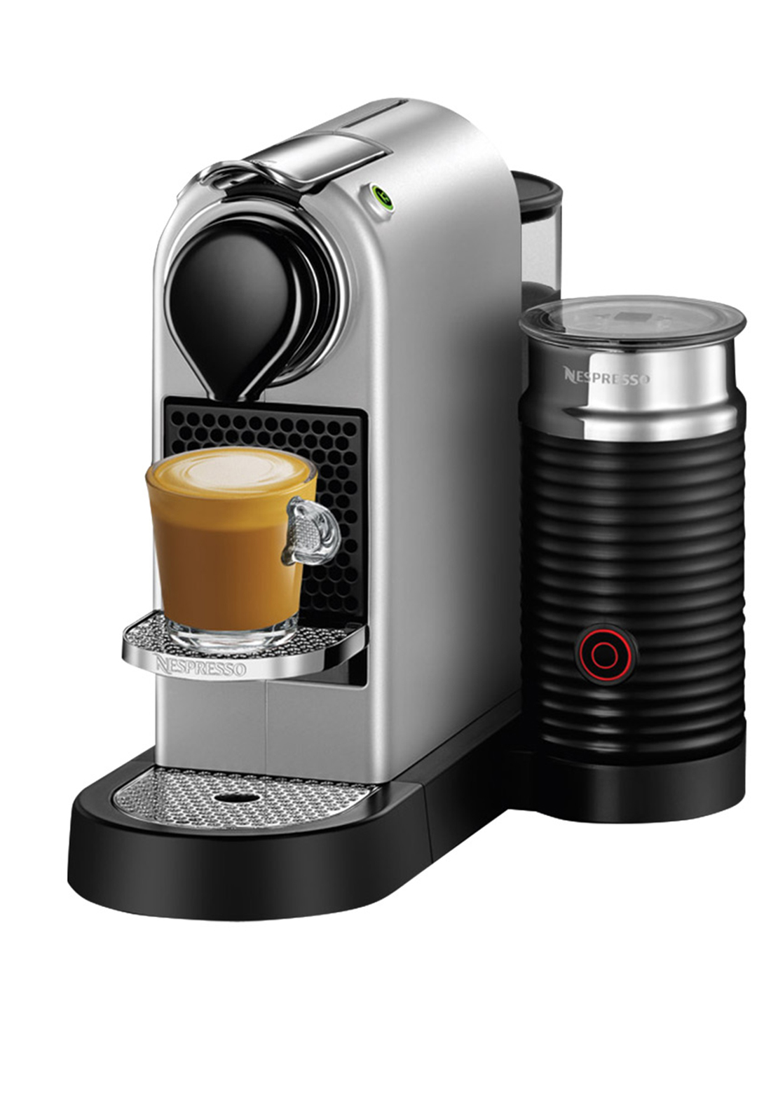 nespresso krups citiz milk coffee machine silver mcelhinneys. Black Bedroom Furniture Sets. Home Design Ideas