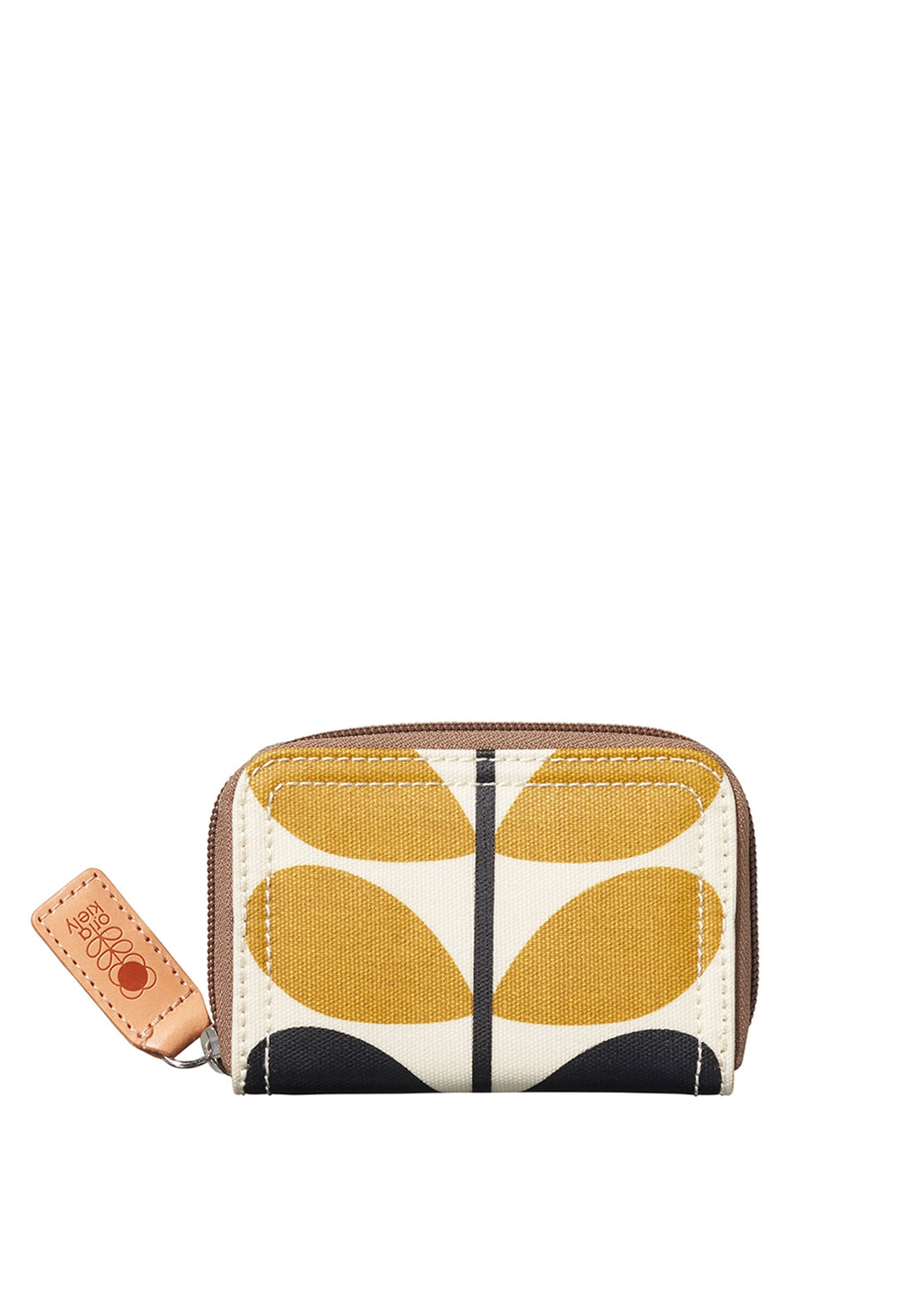 check small. Orla Kiely Stem Check Print Small Zip Purse, Dandelion