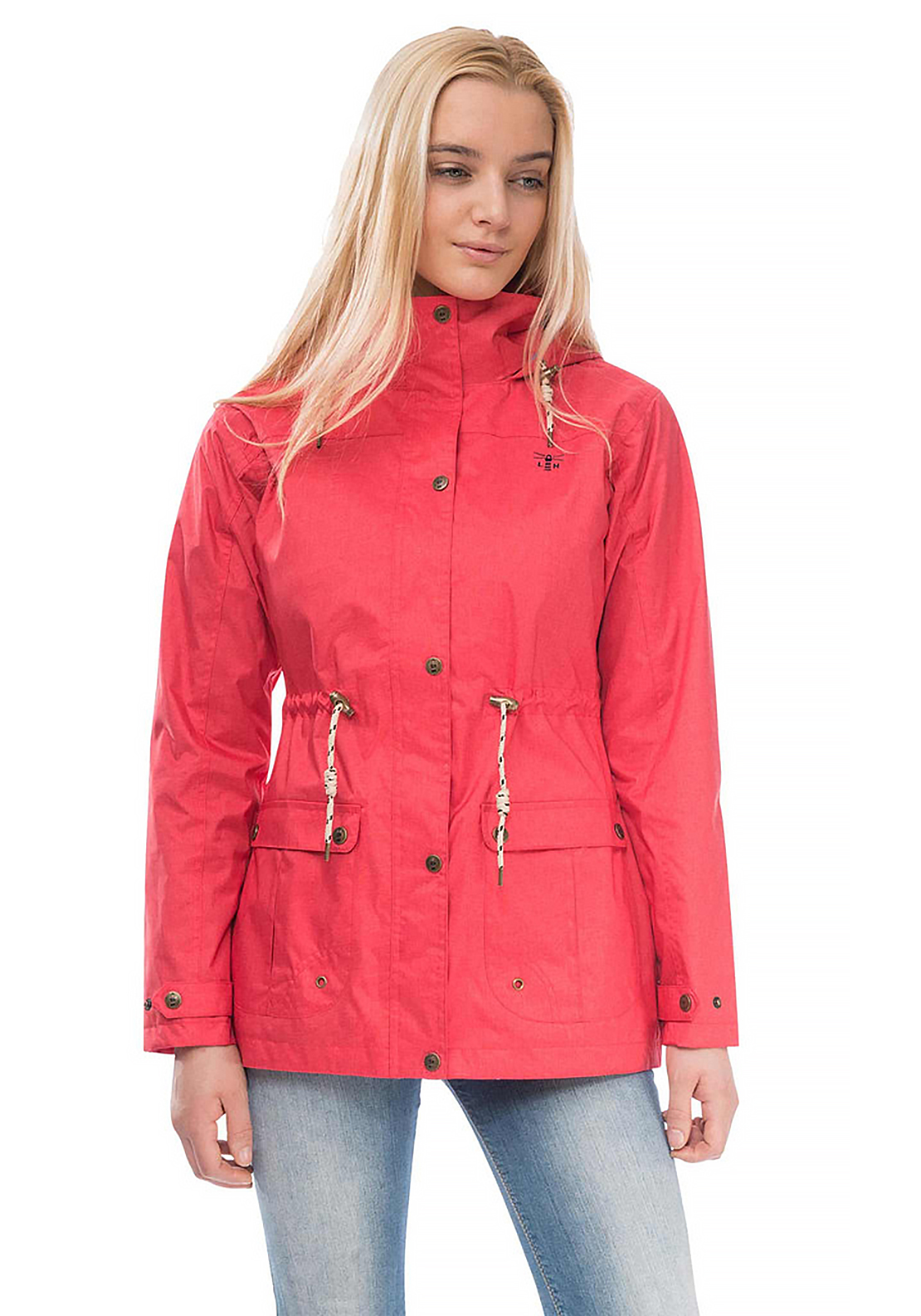 Lighthouse Isla Waterproof Parka Jacket, Watermelon Red ...