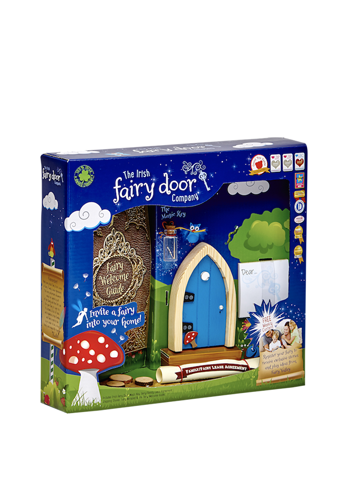 The irish fairy door company arched fairy door blue for The irish fairy door company facebook