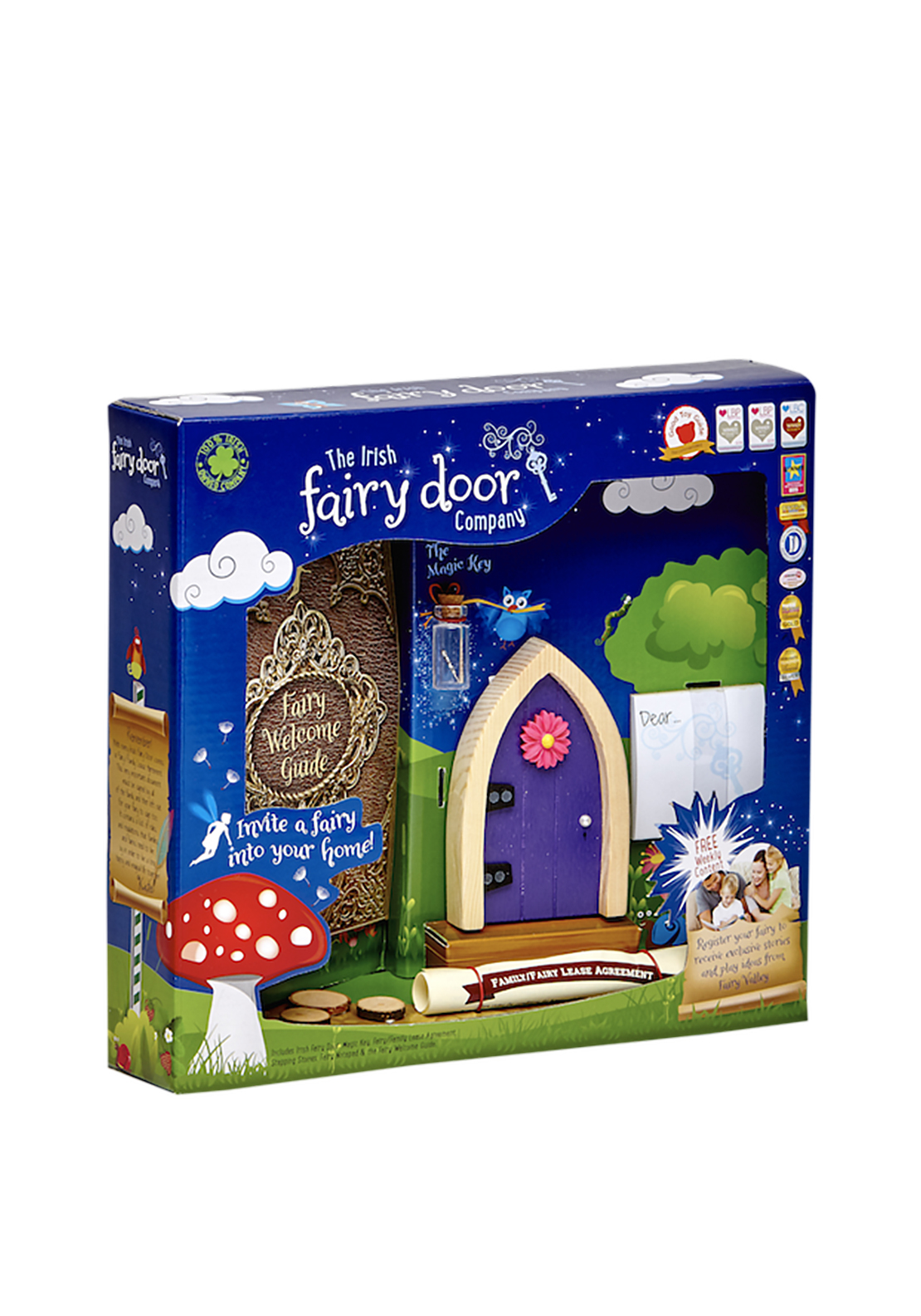 The irish fairy door company arched fairy door purple for The irish fairy door company facebook