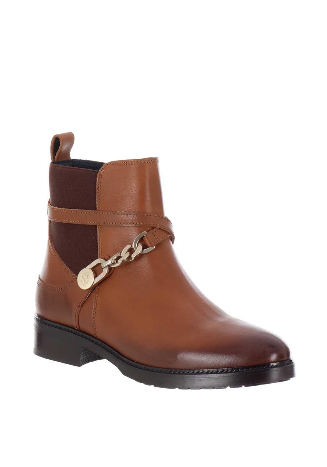 tommy hilfiger womens chain chelsea boots tan mcelhinneys. Black Bedroom Furniture Sets. Home Design Ideas