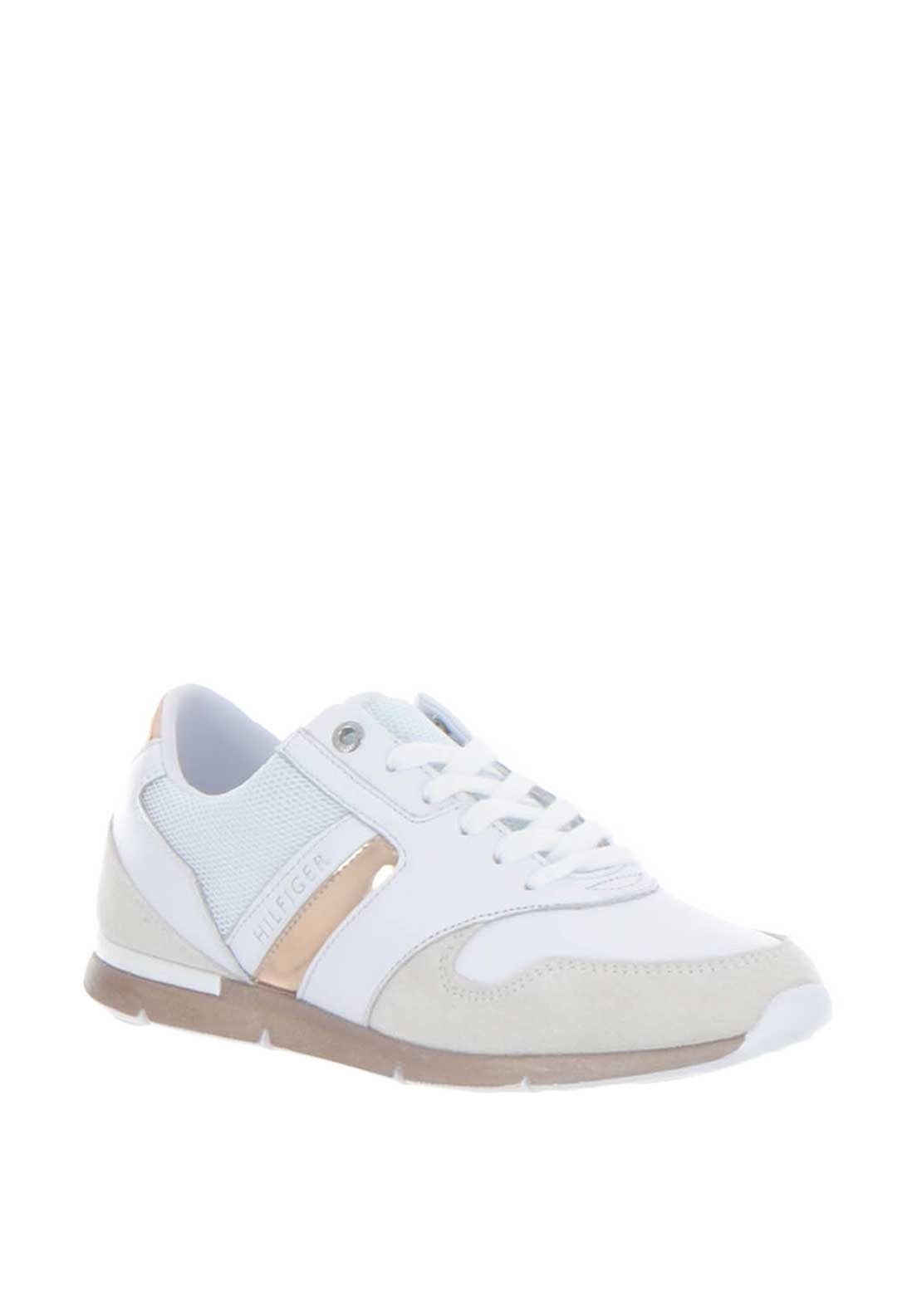 66388bf21 Tommy Hilfiger Womens Iridescent Light Trainers, Rose Gold | McElhinneys
